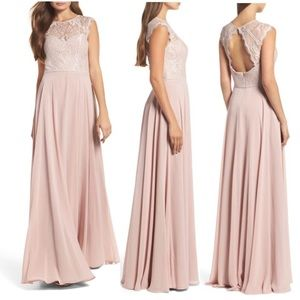 NWT Hayley Paige Occasion's Dusty Rose Gown 6